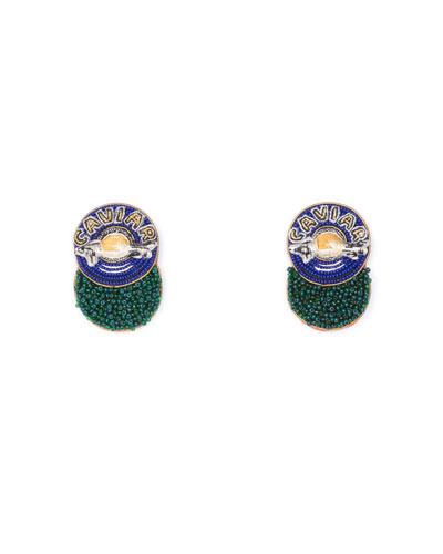 Caviar Beaded Stud Earrings