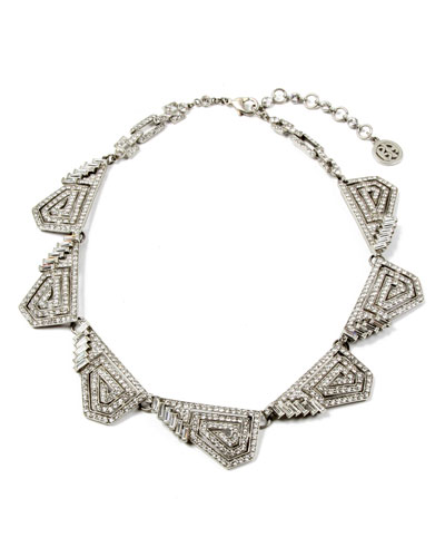 Crystal Deco Geometric Necklace