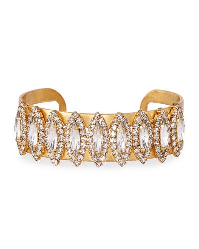Elizabeth Cole Ryan Crystal Cuff Bracelet