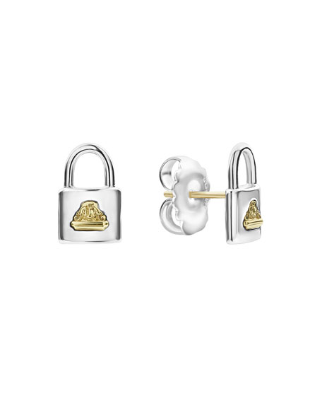 Lagos BELOVED LOCK STUD EARRINGS