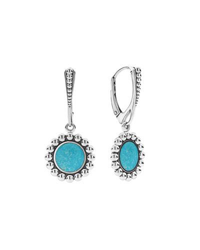 Maya Inlay Drop Earrings  Turquoise