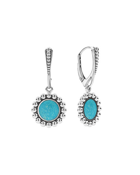 Lagos Accessories MAYA INLAY DROP EARRINGS, TURQUOISE