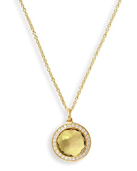 Ippolita 18k Lollipop Citrine & Diamond Pendant Necklace
