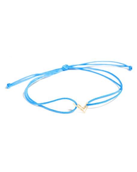 K KANE Chain Letter Neon Bracelet, Bright Blue