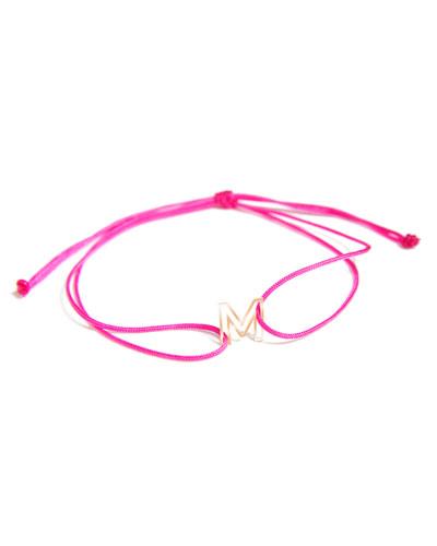 Chain Letter Neon Bracelet, Hot Pink