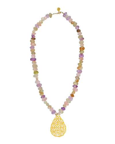 Pastel Filigree Pendant Necklace