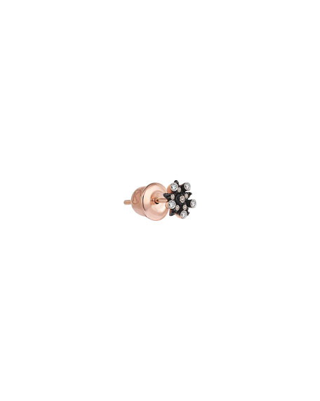 Kismet by Milka Electric 14k Rose Gold Mixed Diamond Star Earring (Single)