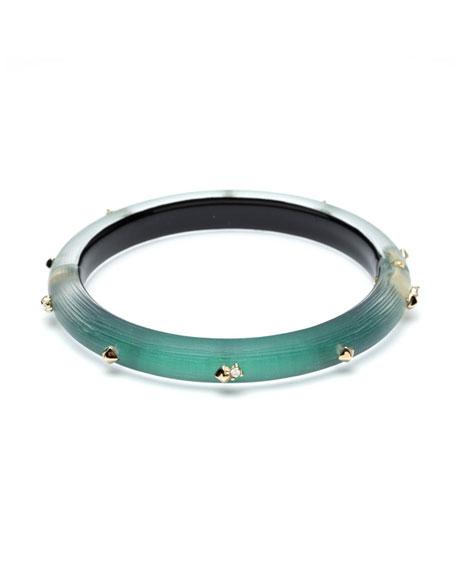 Alexis Bittar Studded Hinge Bracelet, Green