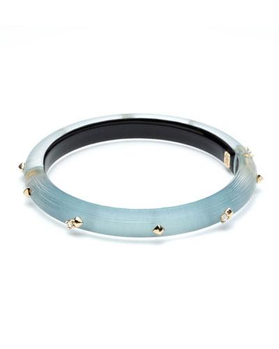 Crystal Encrusted Skinny Hinge Bracelet  Blue