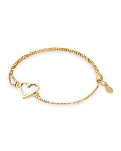 Heart Pull-Chain Bracelet, Gold