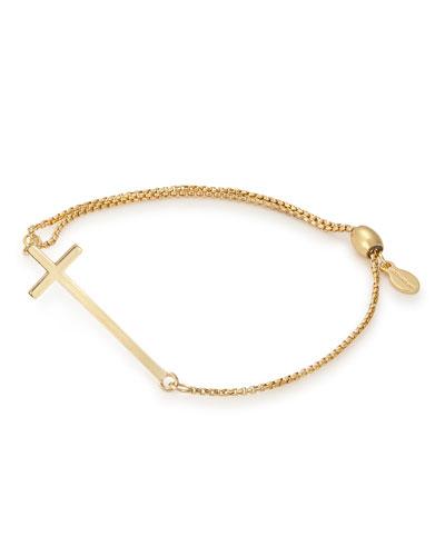 Cross Pull-Chain Bracelet, Gold