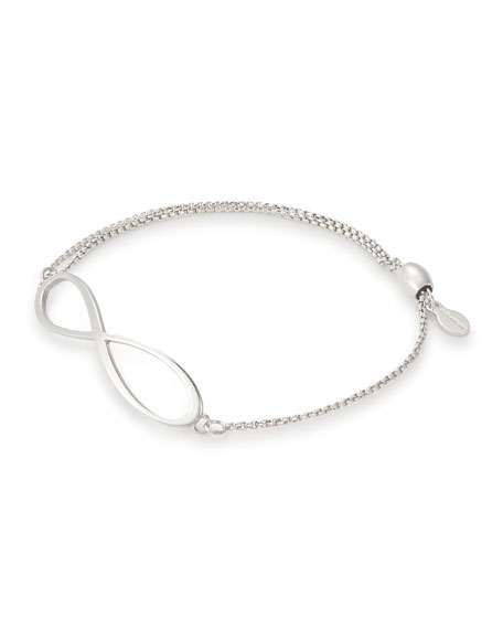 Alex And Ani INFINITY PULL-CHAIN BRACELET, SILVER