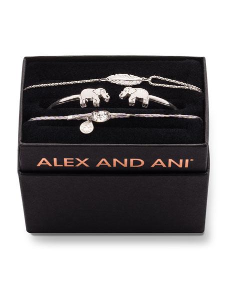 Alex and Ani Elephant Cuff Bracelet Gift Set,
