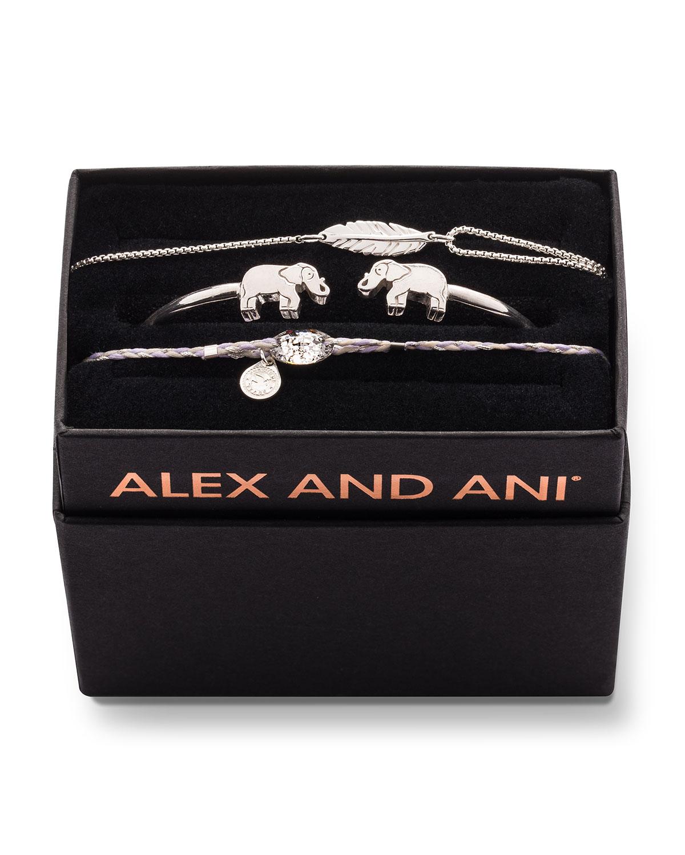 3b3a8fab5f87f Alex and Ani Elephant Cuff Bracelet Gift Set