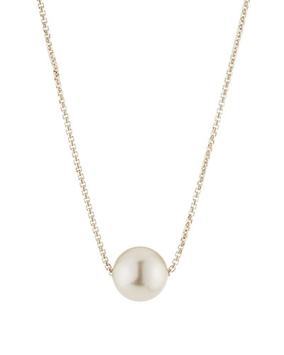 Sea Sultry Pearly Adjustable Necklace  Silver