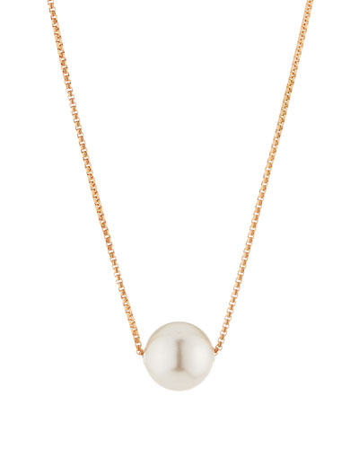 Sea Sultry Pearly Adjustable Necklace  Rose Gold