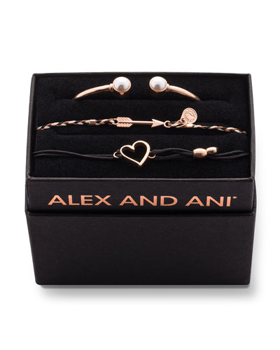 Pearly Cuff Bracelet Boxed Gift Set  Gold
