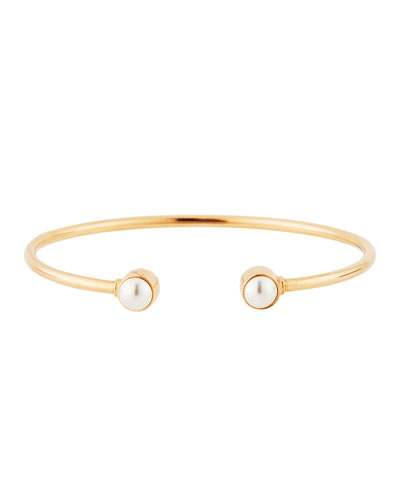 Sea Sultry Pearly Cuff Bracelet  Rose Gold