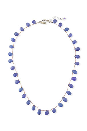2 in Light Purple CZ Necklace ELLE Jewelry ROCK CANDY Sterling Silver 20 in