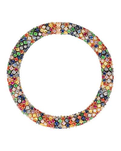 Twister Luxe 18k Bracelet, Rainbow
