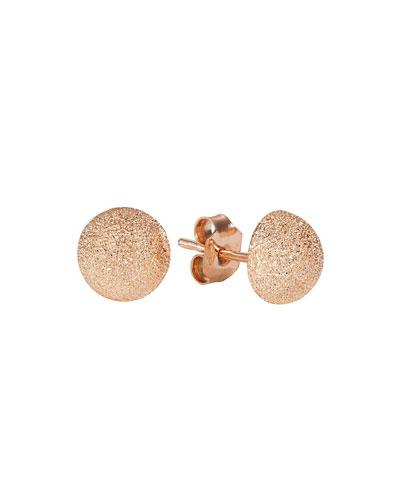 18k Pink Gold Florentine Large Stud Earrings
