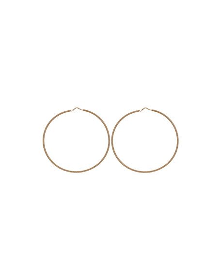 Carolina Bucci 18K GOLD FLORENTINE LARGE HOOP EARRINGS