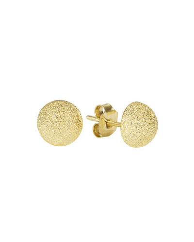 18k Gold Florentine Small Stud Earrings