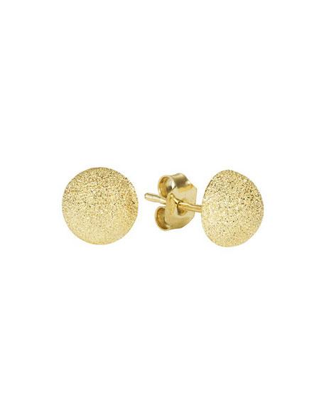 Carolina Bucci 18K GOLD FLORENTINE SMALL STUD EARRINGS