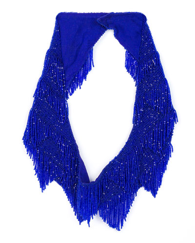 Greta Beaded Scarf Necklace