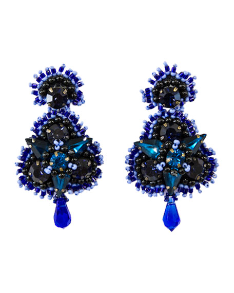 Mignonne Gavigan  ANASTASIA CRYSTAL EARRINGS, BLUE