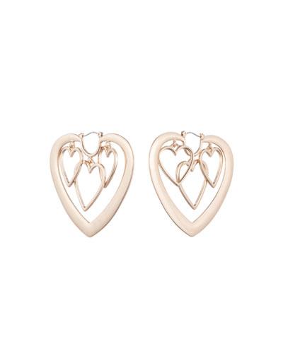 Yvette Heart Hoop Earrings