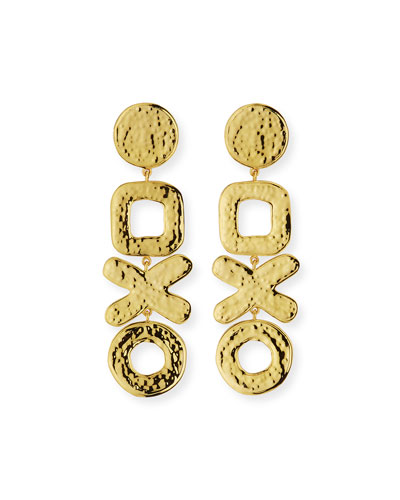 Linear Geometric Drop Earrings
