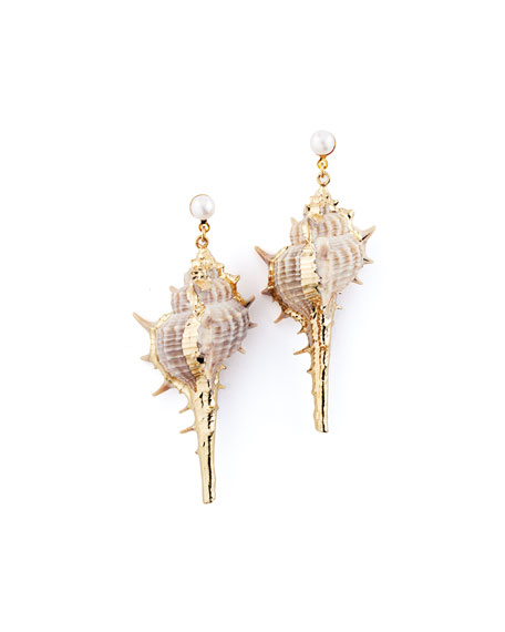 Auden Accessories ALANA SEA SHELL DROP EARRINGS