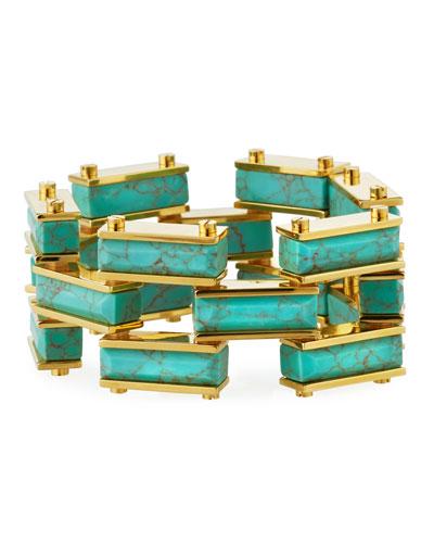 Garden Fence Howlite Bracelet