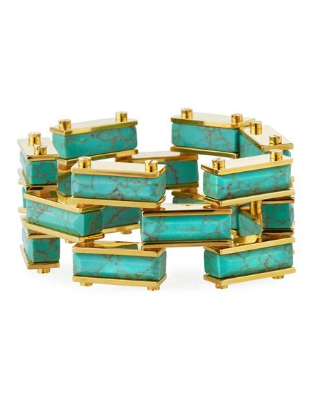 Lele Sadoughi Accessories GARDEN FENCE HOWLITE BRACELET