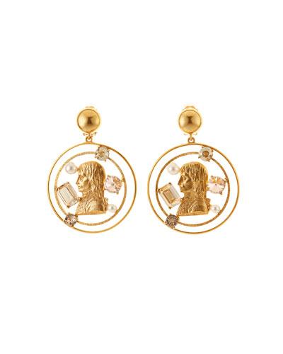 Open Coin-Drop Earrings