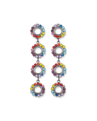 Minka Drop Earrings in Rainbow