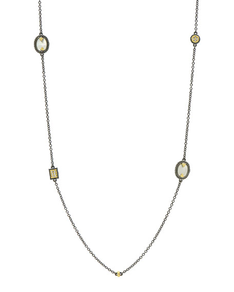Imperial Mother-of-Pearl Station Necklace