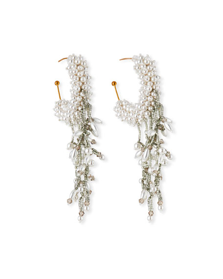 Mignonne Gavigan MINI BLAIR PEARLY HOOP DANGLE EARRINGS