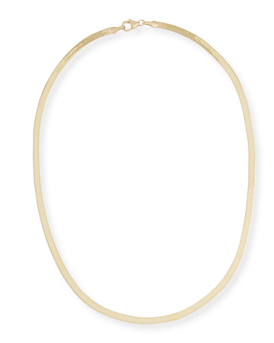 14k Liquid Thin 3mm Choker Necklace