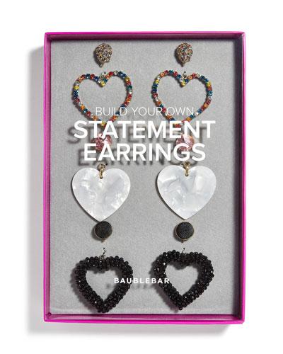 Heart Statement Earrings Gift Set