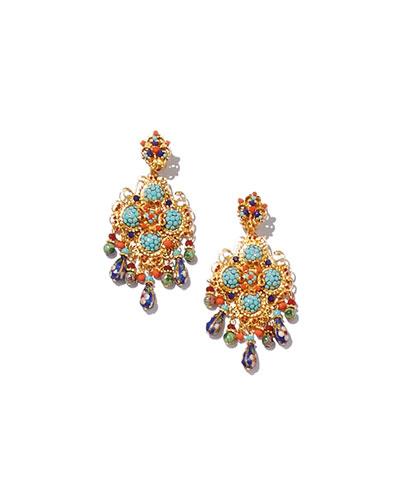 Crystal Beaded Chandelier Earrings