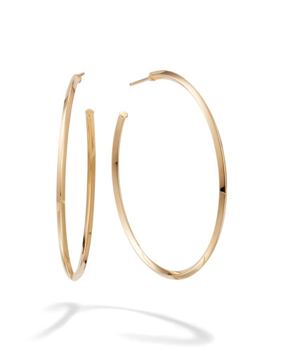 45mm Thin Pointed Royale Hoops