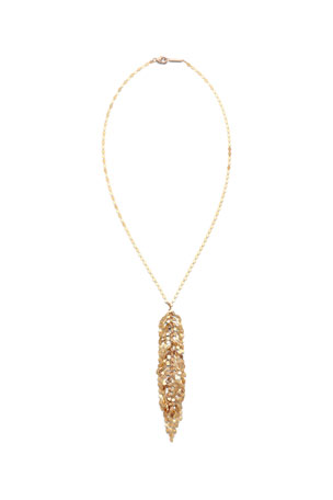 LANA 14k Gold Mini Fringe Lariat Necklace