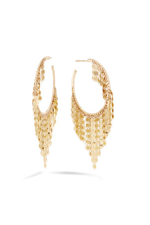 Lana 14k Gold Fringe Hoop Earrings