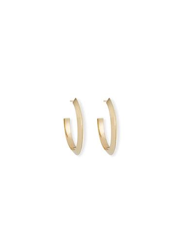 14k Pointed Royale Hoop Earrings  20mm