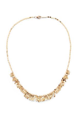 """Lana 14k Gold Mini Fringe Choker Necklace, 15""""L"""