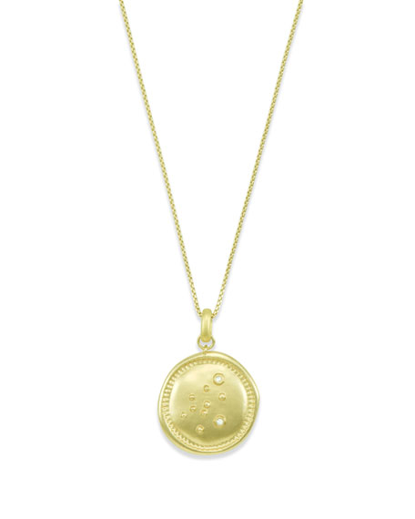 Kendra Scott Aquarius Coin Pendant Necklace