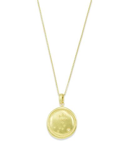 Pisces Coin Pendant Necklace