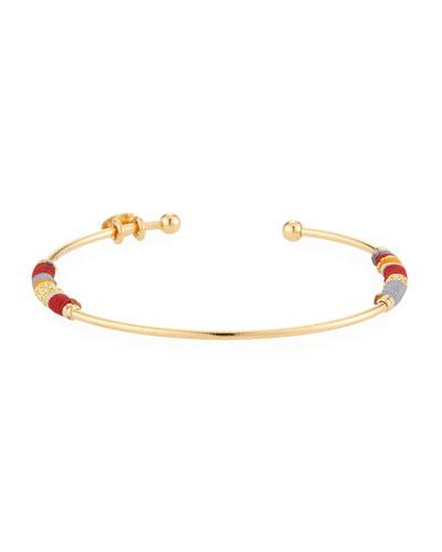 Zanzibar Bangle Bracelet, Red/Gold
